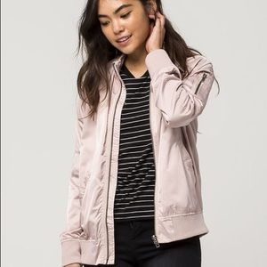 NEW Members Only Pink Satin Bomber Jacket (XS)